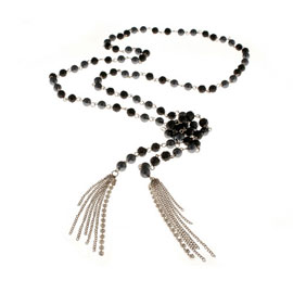 chezbec black necklace